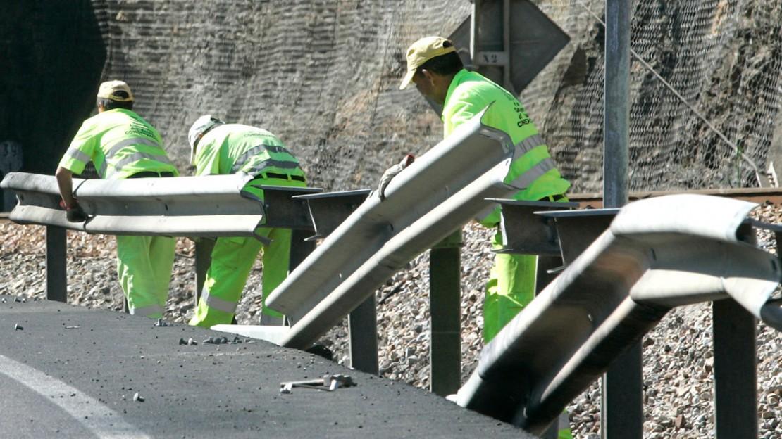 obras en carreteras secundarias