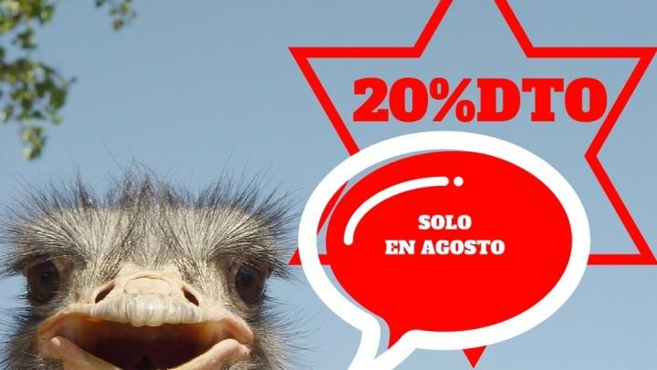 20% Dcto. solo en Agosto